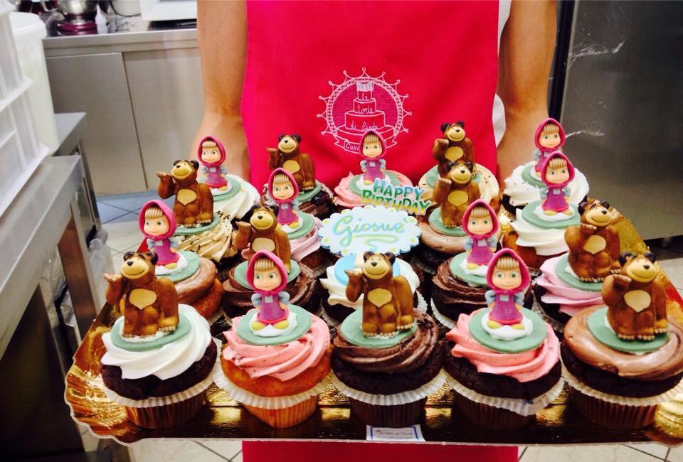 Cupcake con Masha e l'orso