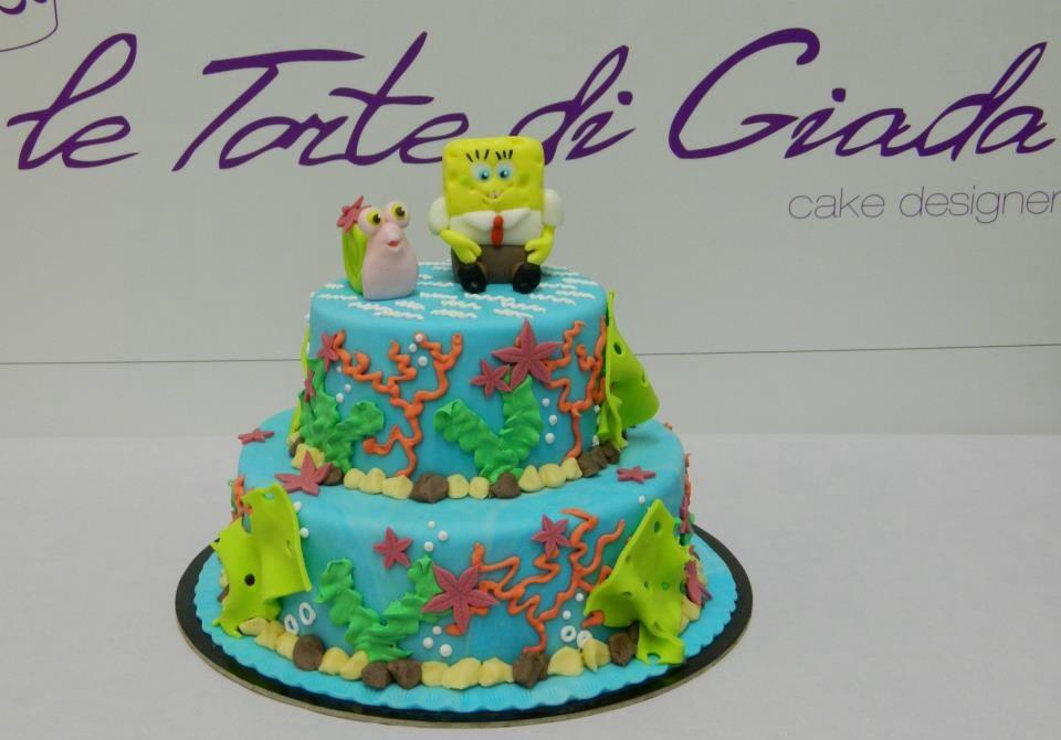 torta compleanno a tema spongebob le torte di giada. Black Bedroom Furniture Sets. Home Design Ideas