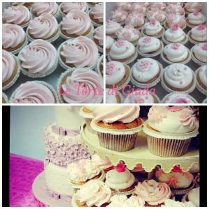Con le nostre alzatine a piani , e' facile ricreare , con le Cupcake decorate , l'effetto torta a piani