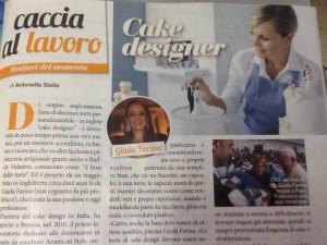 L'articolo in cui veniamo intervistati , si parla di professione Cake Design