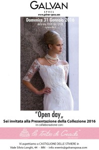 In collaborazione con Galvan Sposi Open Day