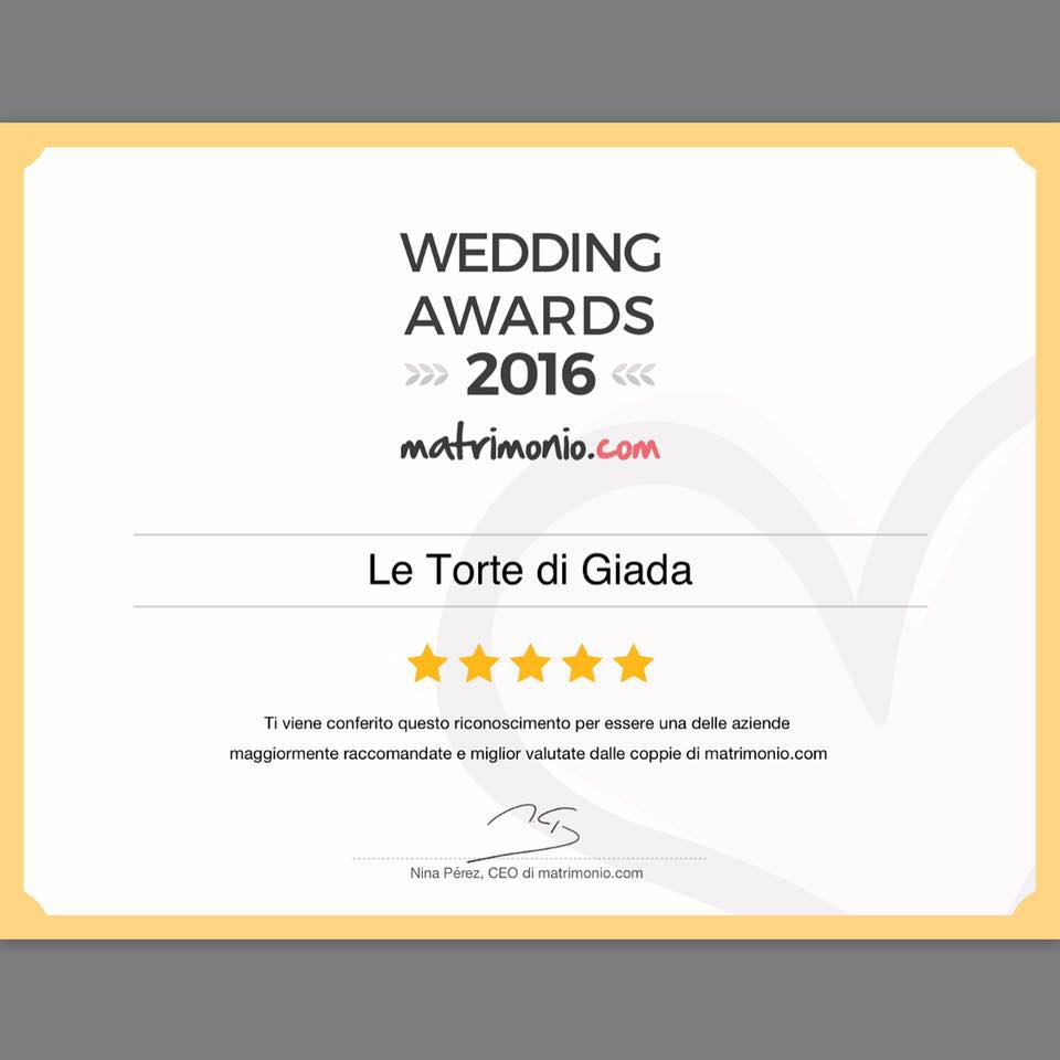 Wedding Award 2016 le torte di giada wedding cake cake design