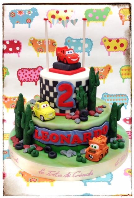 torta di compleanno cars