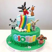 animali fattoria cake
