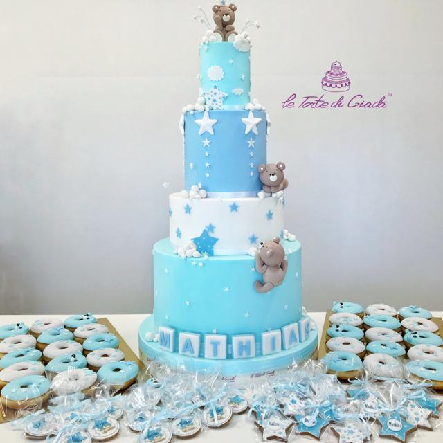 battesimo torta brescia bambina