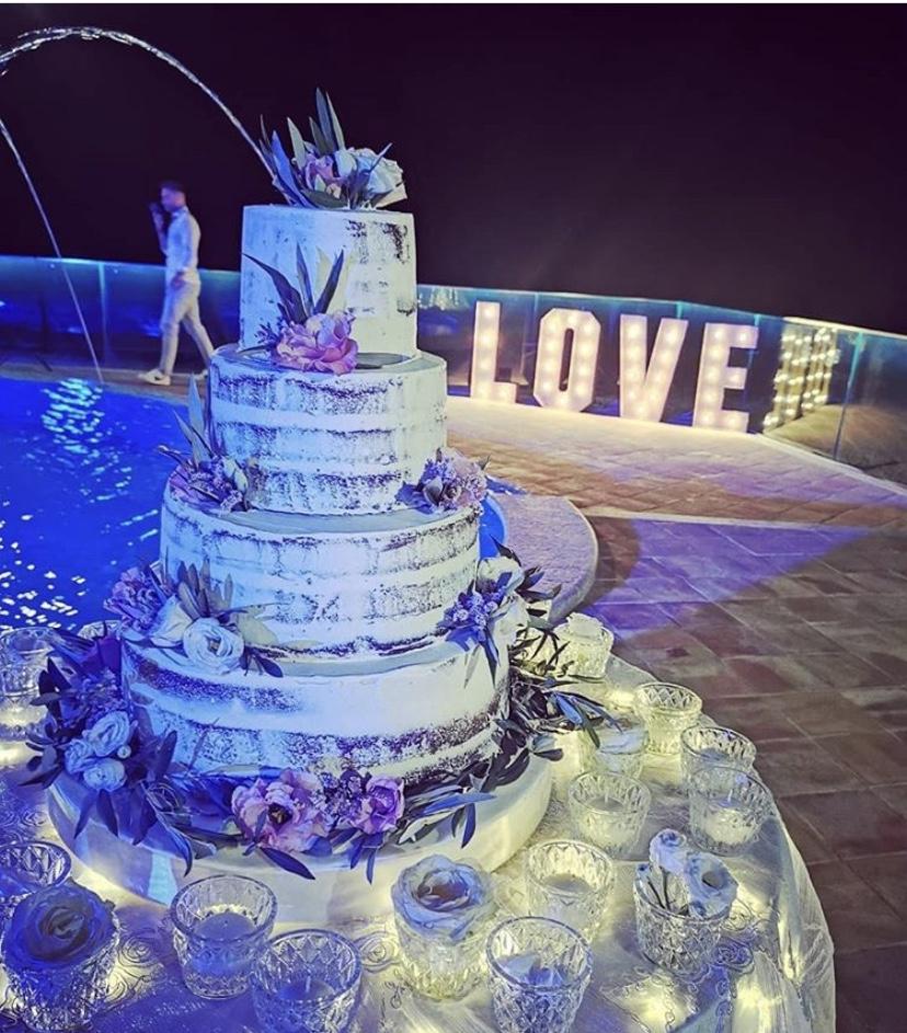 matrimonio vip torta