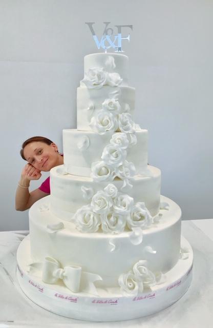 torta gigante piano matrimonio