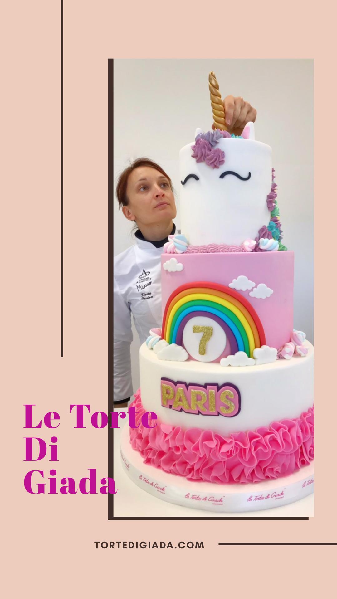 torta unicorno 2019 brescia