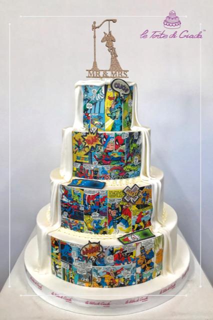 torta personalizzata marvel brescia