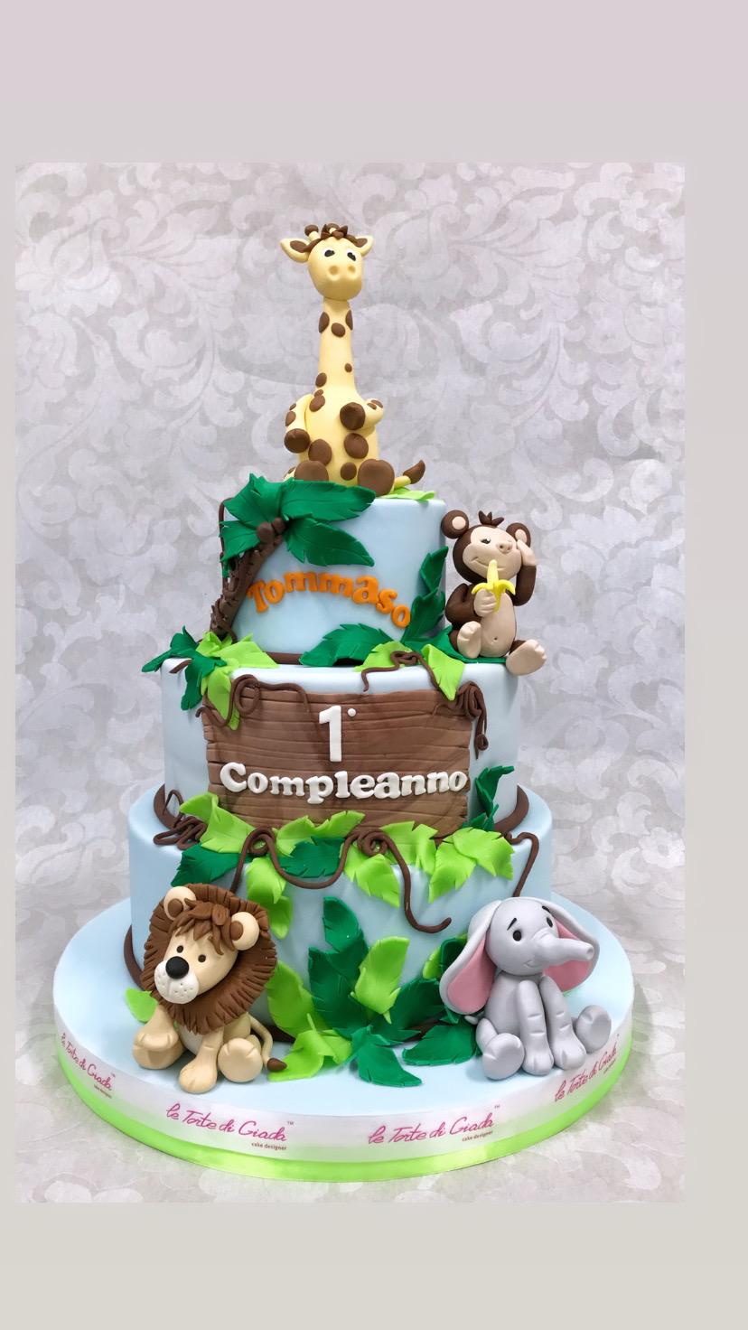 torta compleanno safari