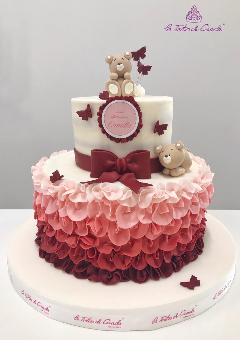 battesimo bambina torta brescia