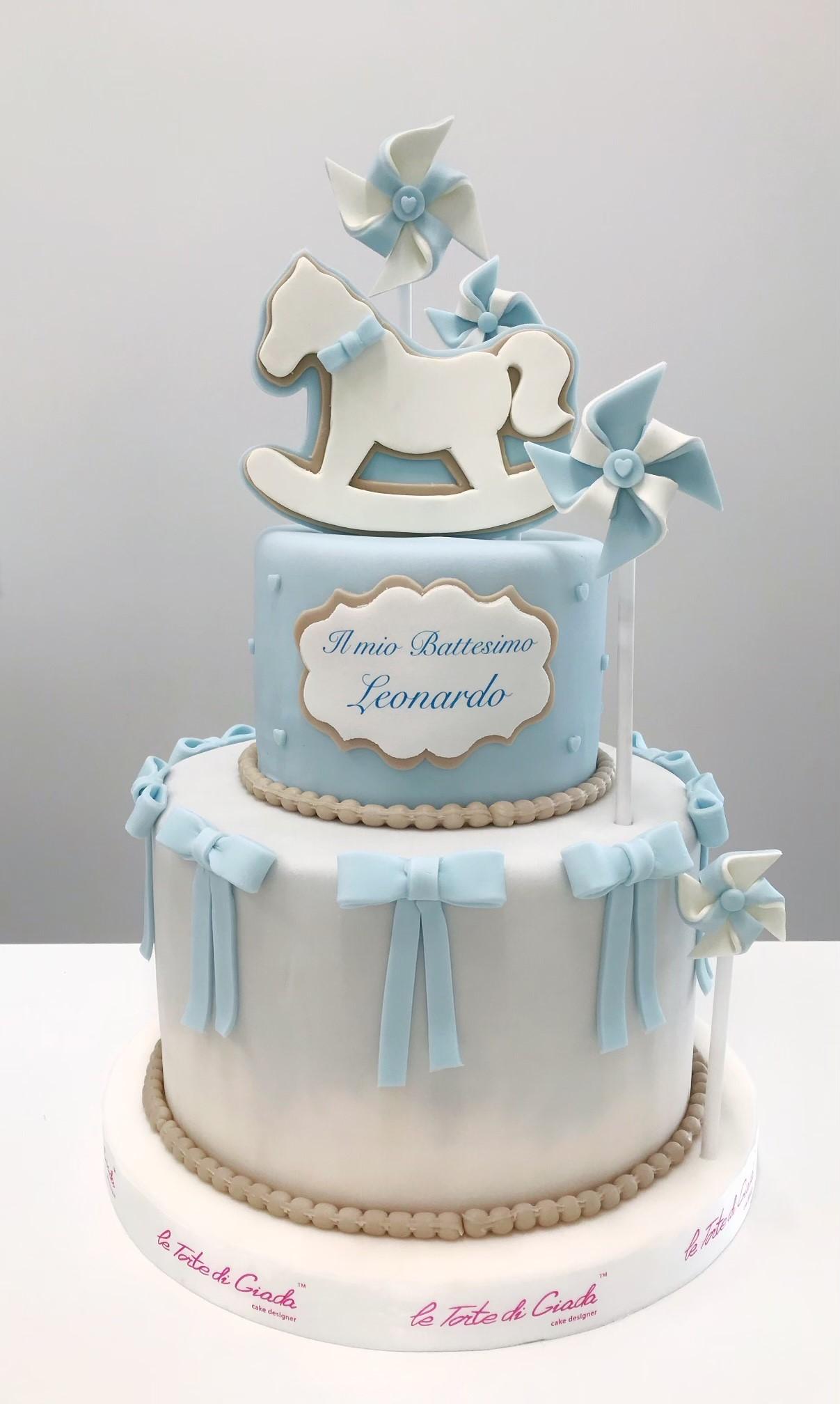 battesimo bambino cake design