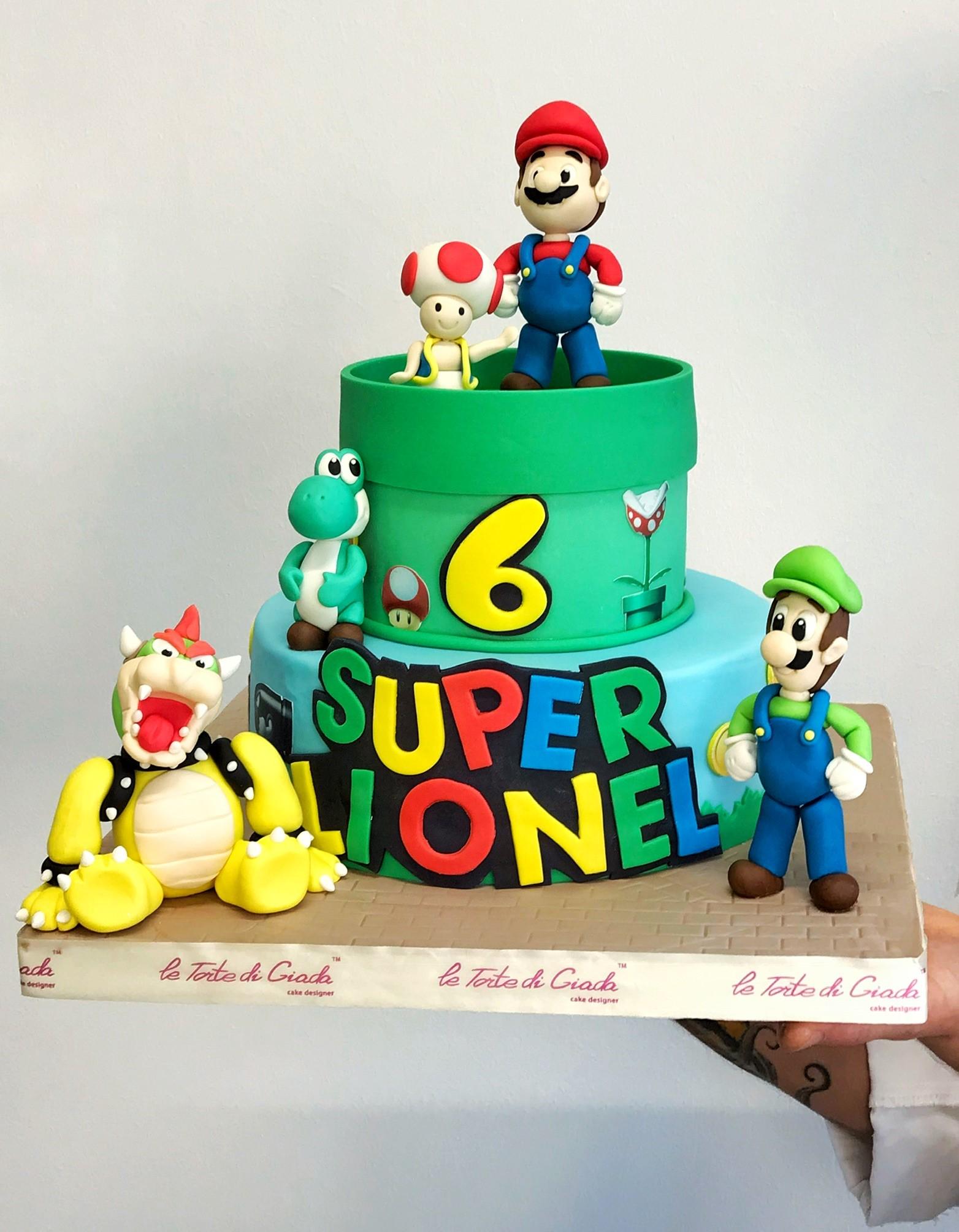 compleanno brescia bambino torta super mario