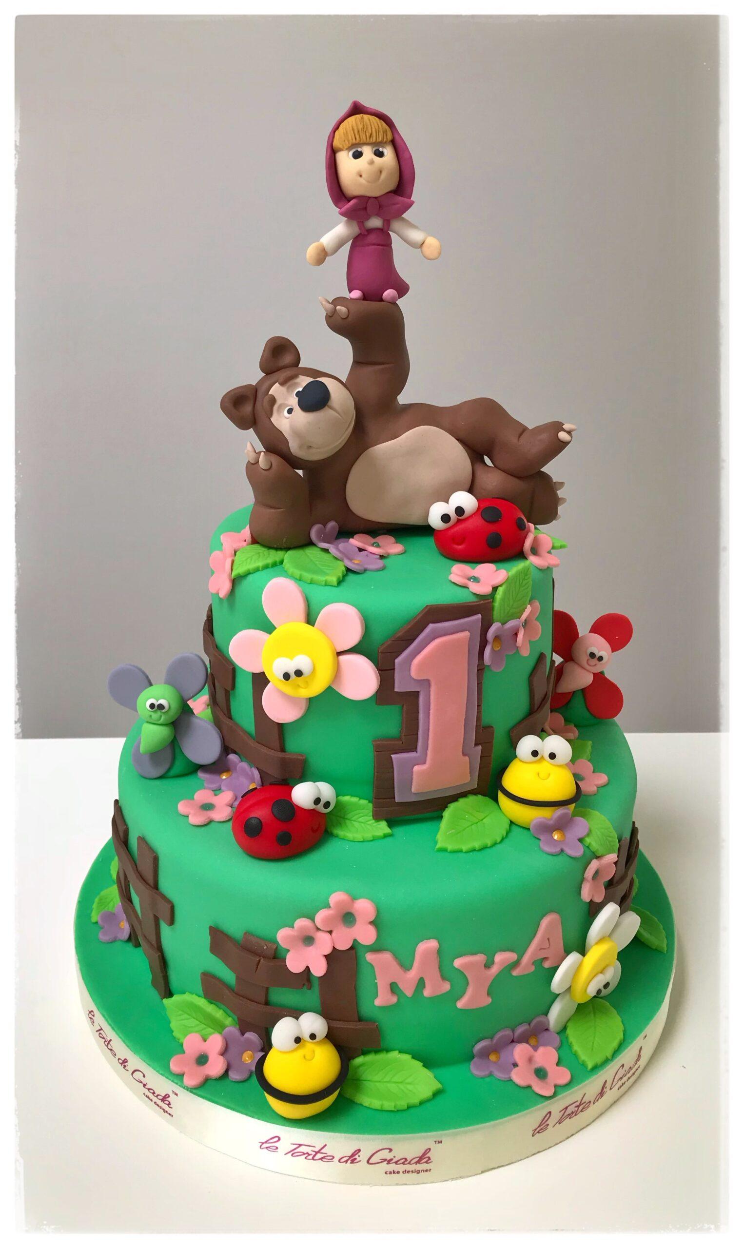 compleanno brescia torta cake design masha e orso