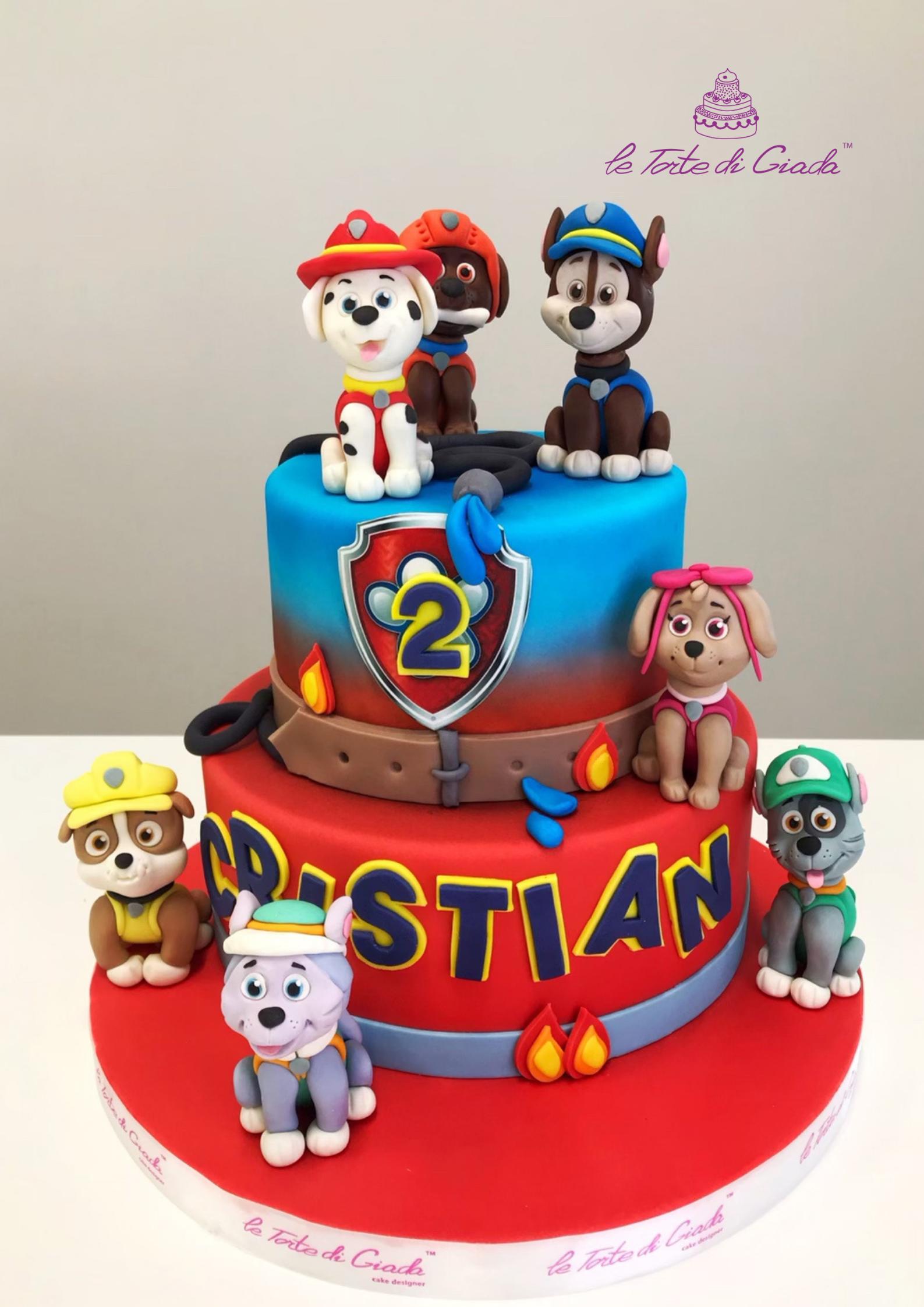 compleanno brescia torta cake design paw patrol