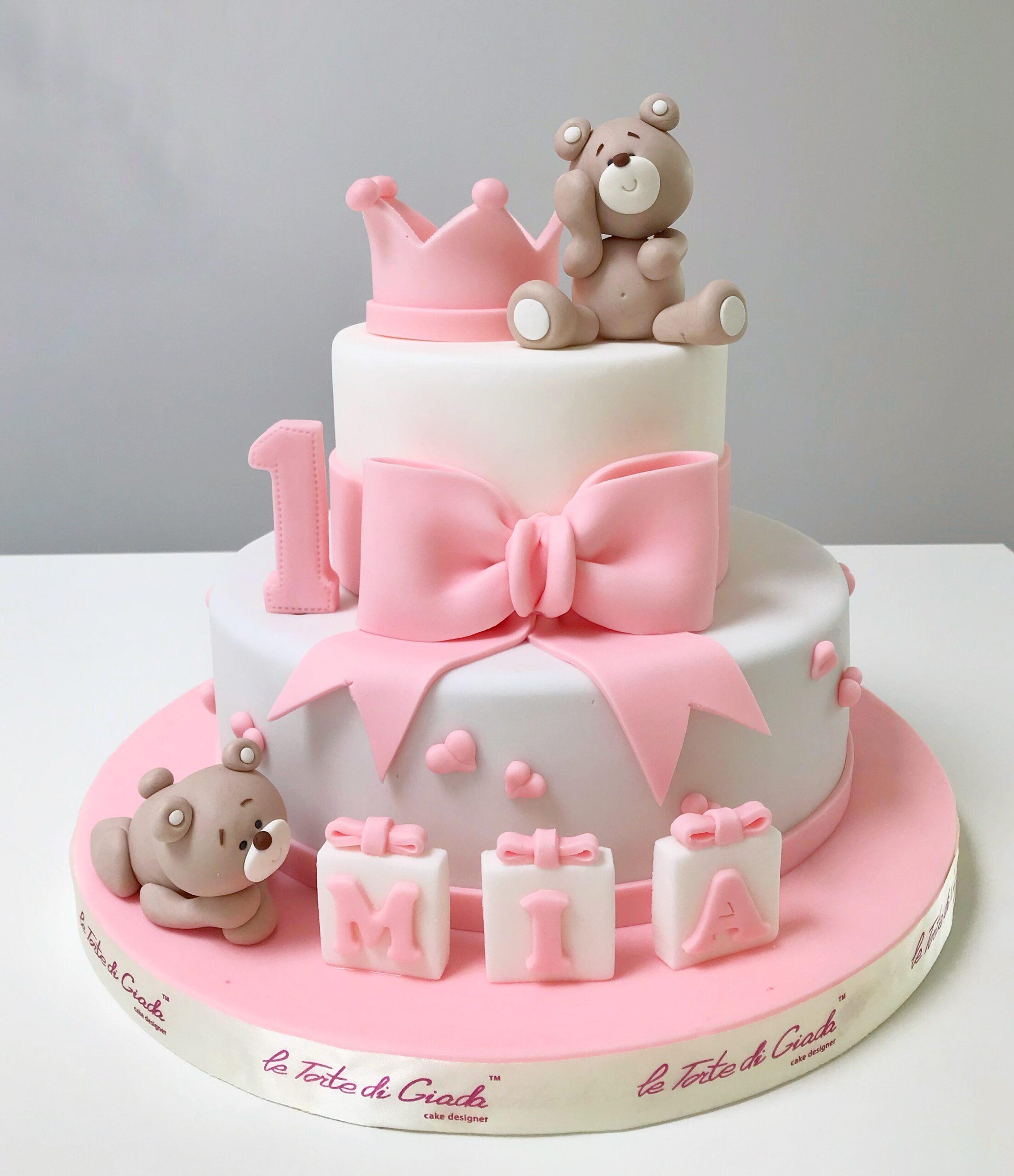primo compleanno bambina torta cake design