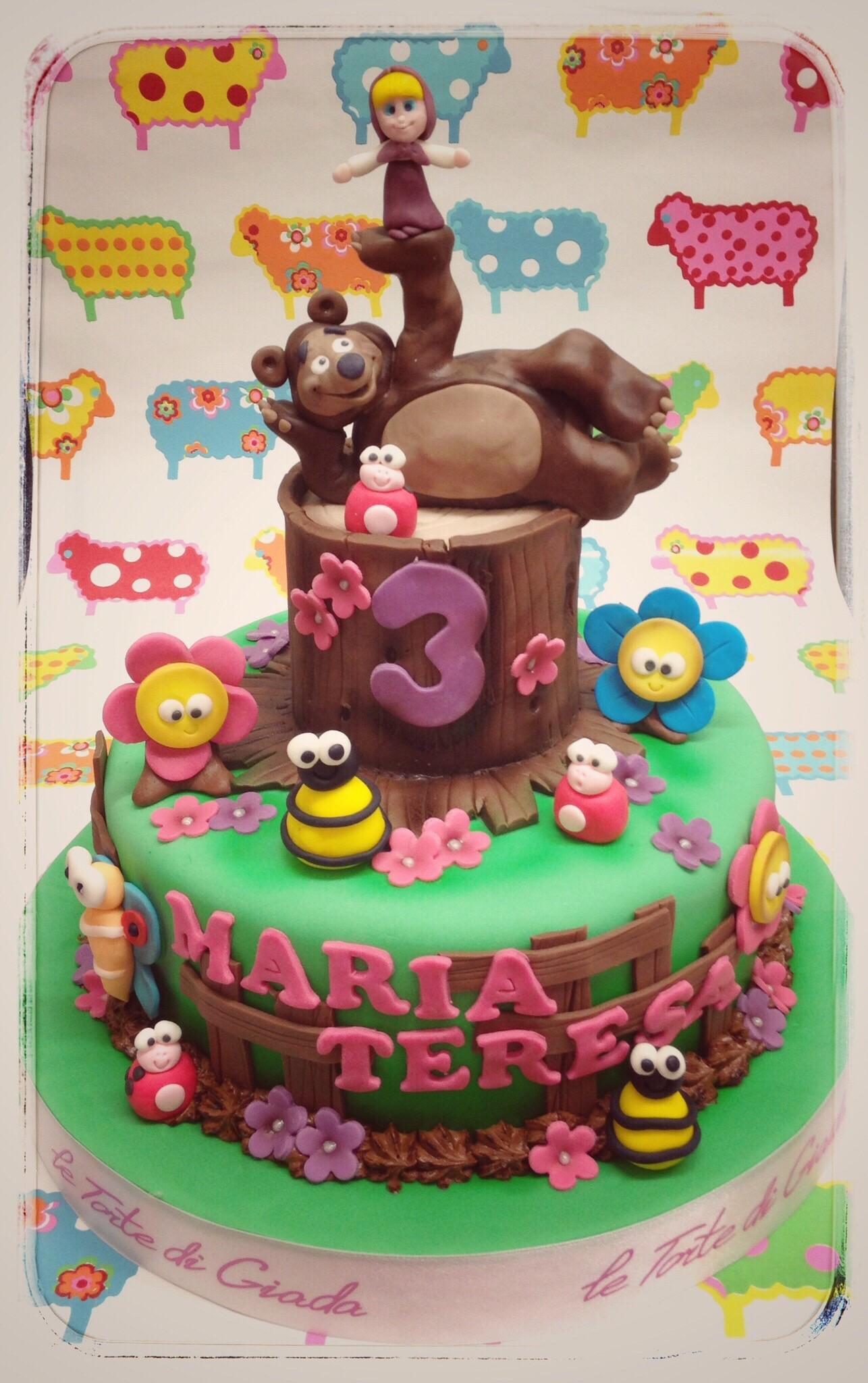 torta Masha e Orso brescia