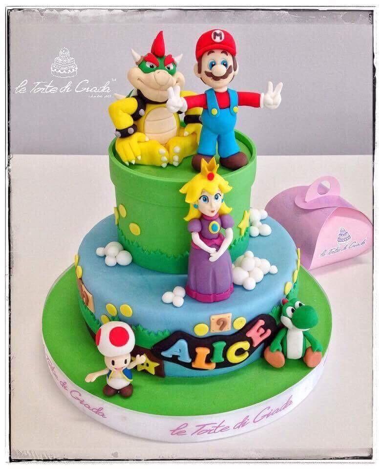torta compleanno brescia bambino super mario